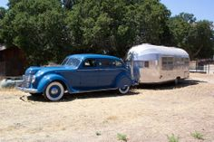 Old airstream and car
