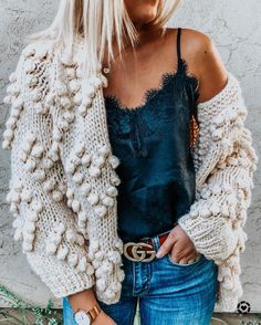 Knit Your Love Cardigan in Ivory - Retro, Indie and Unique Fashion Unique Fashion, Top Fashion, Fashion Beauty, Fashion Outfits, Womens Fashion, Fashion Trends, Fashion 2016, Cheap Fashion, Fashion Boots