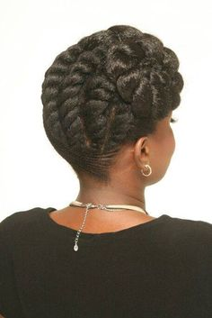 Chunky flat-twists updo