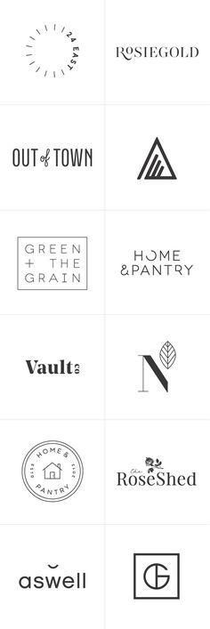 Logo設計參考;第四排、第六排第一個很有參考價值