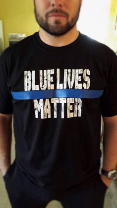 Blue Lives Matter Police Shirt Thin Blue Line by StampedbyShaye
