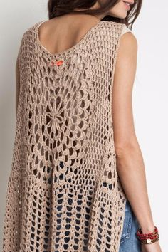 Harlow Crochet Vest by Umgee (Taupe) - Thumbnail 1