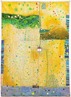 """Hugette Caland - Tarik el Sham  80.75""""x57.75"""" mixed media on canvas, 2010"""