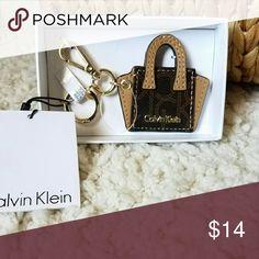 Calvin Klein Purse Charm NWT Can be used as a key ring or purse charm. Calvin Klein Accessories