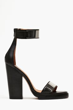 Tilda Platform in Black Leather by #JeffreyCampbell, exclusively for Nasty Gal