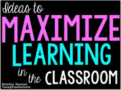 An entire blog post devoted to ideas on Maximizing Learning in the Classroom! Plus over 5 pages of free ideas to use during transitions, and bathroom breaks! Young Teacher Love by Kristine Nannini