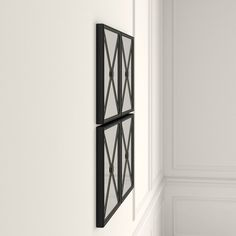 Polaris Large Framed Wall Mirror & Reviews | Joss & Main Set Of 4 Wall Mirrors, Black Wall Mirror, Mirror Set, Framed Wall, Frames On Wall, Construction Materials, Joss And Main, Decorative Pillows, Triangle