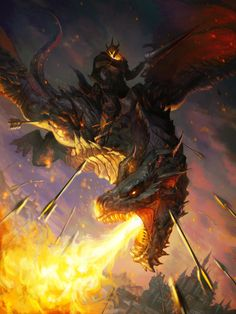 """aliapulchraes: """" Personal work_Dragon warrior by Jeon Tae Kang """" Dragon Warrior, Dragon Knight, Dragon Rider, Mythical Creatures Art, Fantasy Creatures, Dark Fantasy Art, Fantasy Artwork, House Of Dragons, Dragon Medieval"""