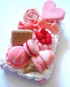 Sweets Traditional at high tea. The more creative the better- Sweets Traditional at high tea. The more creative the better Sweets Traditional at high tea. The more creative the better - Kawaii Phone Case, Decoden Phone Case, Cute Phone Cases, Iphone Cases, Cellphone Case, Crea Fimo, Pink Sweets, Tout Rose, Everything Pink