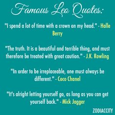 Famous Leo Quotes - Zodiac City
