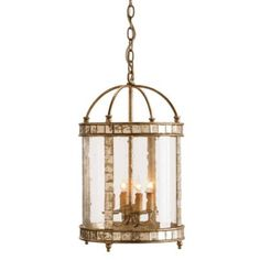 THE WELL APPOINTED HOUSE - Harlow Silver Leaf Lantern Small - Chandeliers - Lighting