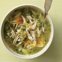 Cure-a-Cold Spring Chicken Soup, 30-Minute Meals | http://www.rachaelraymag.com/Recipes/rachael-ray-magazine-recipe-search/rachael-ray-30-minute-meals/cure-a-cold-spring-chicken-soup