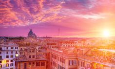 Sunset in Rome. Stock Image