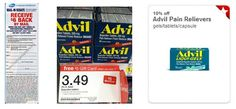 Hot Target Moneymaker on Advil! Gift card deal + Target Cartwheel + Coupons + Rebate