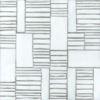 Kente, a hand cut glass mosaic  shown in Moonstone, is part of the Erin Adams Collection for New Ravenna Mosaics. Take the next step: prices, samples and design help, http://www.newravenna.com/showrooms/