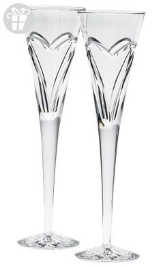 Waterford Wishes Love and Romance Flutes, Set of 2 (*Amazon Partner-Link)