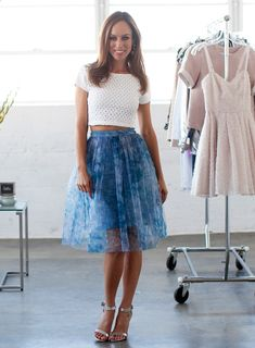 ddd97e821947 A-Z Trend Guide  Voluminous Skirts. Fashion VideosPetite FashionStyle  FashionSpring OutfitsSpring Summer ...