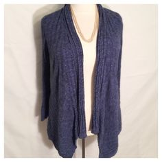 Plus Size Calvin Klein Fly Away Sweater Luxurious Calvin Klein blue sweater size 1X. Has inner button. Throw it on to dress up jeans, or wear it to work! Very versatile sweater! Calvin Klein Sweaters Cardigans