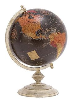 Buy Deco 79 Metal Globe, 12-Inch by 18-Inch - Topvintagestyle.com ✓ FREE DELIVERY possible on eligible purchases