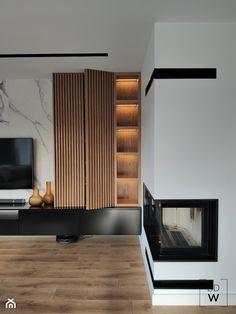 Apartment Interior, Home Living Room, Interior Design Living Room, Living Room Wall Units, Living Room Tv Unit Designs, Home Room Design, House Rooms, Home Decor, Modern Tv Room
