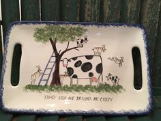 Cow Decor/Cow Gifts/Cow Lover/Cow/Cow Gift/Cow Art/Cow Lover/Cow Plates/Cow Plate/Holstein/Farmhouse Decor/Rustic Decor/Molly Dallas by MollyDallasCo on Etsy