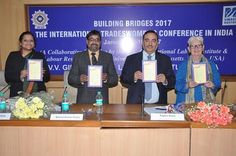 The V.V.Giri National Labour Institute in collaboration with Labour Resource Centre and University of Massachusetts, Boston USA organized a two day International Conference Building Bridges 2017: The International Tradeswomen's Conference in India from January 18-19 2017. The conference brought together fifteen tradeswomen delegation from US to share their experiences and information pertaining to the construction industry. The conference was attended by a fifteen member US delegation…