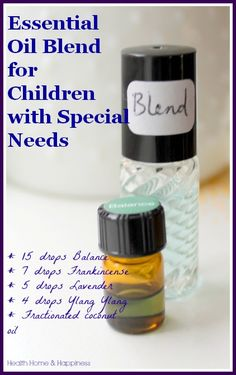 Calming essential oil blend to help overstimulated children not have a melt-down.