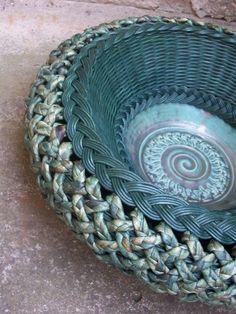 Mísa s keramickým dnem mísa košík ovoce pečivo keramika