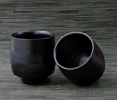 Pair of Dark Teacups by SequoiaMillerSQNYC12 on Etsy