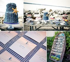 Nautical wedding details!