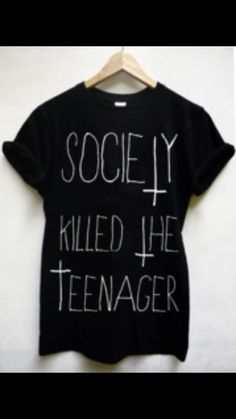 t-shirt teen white print