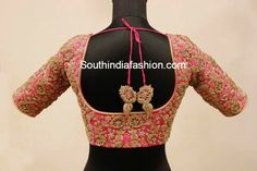 heavy maggam work bridal blouse