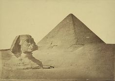 Giza. Pyramid of Khafre and Sphinx - A. D. White Architectural Photographs, Cornell University Library