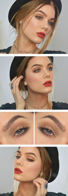 Matte Brown eye look