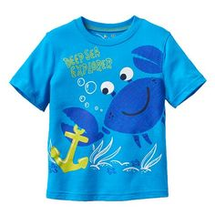 "Jumping Beans® ""Deep Sea Explorer"" Tee - Toddler Toddler Outfits, Boy Outfits, Surf Outfit, Kids Fashion Boy, Kids Swimwear, Kids Prints, Summer Shirts, Summer Kids, Boys Shirts"