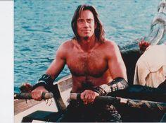 Hercules, Kevin Sorbo still Hercules Kevin Sorbo, Evil Stepmother, Half Man, Cute Actors, Tv Shows, Hero, Celebs, My Love, Swimwear