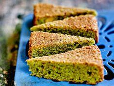 Gâteau amandine au matcha Cake Matcha, Sugar Love, Matcha Green Tea, Cornbread, Food To Make, Banana Bread, Gluten, Ethnic Recipes, Sweet