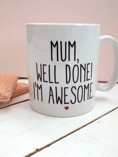 mother's day mug by kelly connor designs knitting bags and gifts… Funny Mothers Day Gifts, Mothers Day 2018, Mothers Day Crafts For Kids, Mothers Day Quotes, Mothers Day Cards, Gifts For Mum, Happy Mothers Day, Mother Day Gifts, Mom Cards