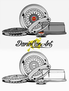 BBS RS 001  Line art  Vector Paypal  You can buy my illustrations.  Contact via email on profile page. Vw Pointer, Tenda Camping, Tee Design, Logo Design, Bbs Wheels, Line Art Vector, Rims For Cars, Motosport, Thai Art