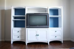 how to paint tv stand/entertainment center