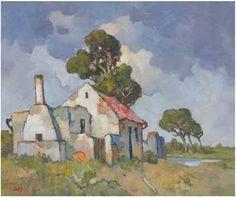 Por amor al arte: Conrad Theys Canvas Painting Projects, Building Painting, South African Artists, Africa Art, Landscape Artwork, Impressionist Art, Arte Popular, Beautiful Paintings, Art Techniques