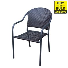 Garden Treasures Pelham Bay Stackable Patio Dining Chair.  Boy's patio area.