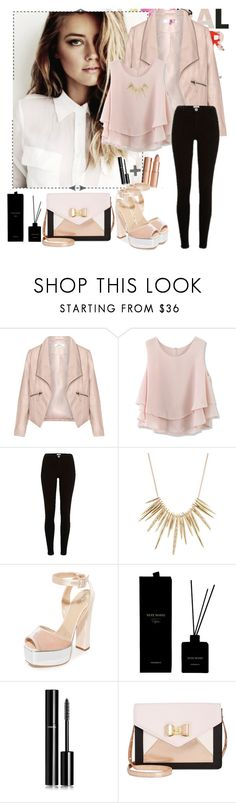 """""""- gentle spring"""" by a-shaykhina ❤ liked on Polyvore featuring Zizzi, Chicwish, River Island, Alexis Bittar, Giuseppe Zanotti, Chanel and Betsey Johnson"""