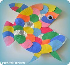 under+the+sea+art+projects+rainbow+fish