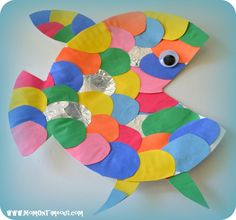 under+the+sea+art+projects+rainbow+fish