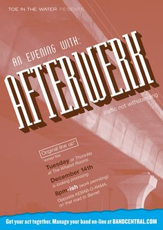 Bandcentral.com - Afterwork. Creative; Dave Dye, Typographer; Andy Dymock