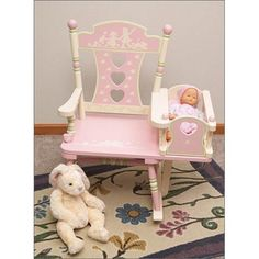 Kids Rocking Chairs: Hand painted Rocking Chairs, Levels of Discovery Rocker