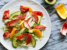 Shaved Fennel, Smoked Salmon, Avocado and Citrus Salad on christelleisflabbergasting,com