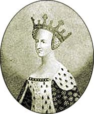 CATHERINE OF VALOIS, Queen of  Henry V of England, daughter of Charles VI of France by his wife Isabel of Bavaria. After widowhood, wife of Owen Tudor, mother of Edmund Tudor and grandmother of Henry VII.