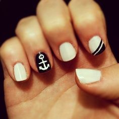 nautical wedding nails designs - Google Search